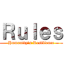 Rules (Humanity's Resilience)